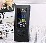 cheap -Remote Precision TS-74 Wireless Digital Thermometer Indoor Outdoor Temperature Backlight Display Clock Weather Station EU Plug/US PlugBlack