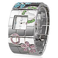 abordables Relojes Bohemios-Mujer Reloj de Pulsera Japonés Cuarzo Reloj Casual Acero Inoxidable Banda Lujo Flor Bohemio Plata - Plata Un año Vida de la Batería / SSUO SR626SW