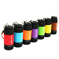 Key Chain Flashlights LED 25 lm 1 Mode - Mini Waterproof Everyday Use Yellow Brown Red Green Blue