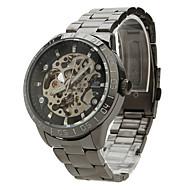 저렴한 -SHENHUA 남성 손목 시계 기계식 시계 중공 판화 오토메틱 셀프-윈딩 스테인레스 스틸 밴드 블랙