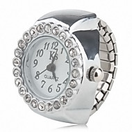 cheap Ring Watches-Women's Ring Watch Japanese Quartz Casual Watch Alloy Band Analog Sparkle Fashion Silver