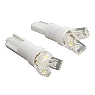 abordables Intermitentes para Coche-t5 3-LED 20mA 0.24W 12v luz blanca bombilla de coche de par