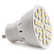 abordables LeXing-150 lm GU10 Focos LED MR16 24 Cuentas LED SMD 5050 Blanco Cálido 220-240 V