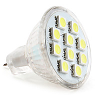 abordables LeXing-1W 50-80lm GU4(MR11) Focos LED MR11 10 Cuentas LED SMD 5050 Blanco Natural 12V