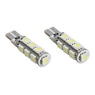 preiswerte -T10 13 * 5050 SMD weiße LED canbus Auto Signalleuchten (2-Pack, DC 12V)