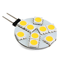 1w g4 led bi-pin luces 9 smd 5050 100lm blanco cálido 2800k