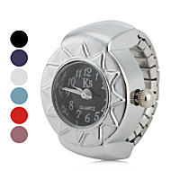 cheap Ring Watches-Women's Ring Watch Japanese Quartz Silver Casual Watch Ladies Vintage - Red Blue Pink