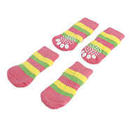 Dog Socks Casual/Daily Keep Warm Stripe Blue Pink For Pets