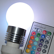 halpa LED-pallolamput-450lm E26 / E27 LED-pallolamput G45 5 LED-helmet Teho-LED Kauko-ohjattava RGB 100-240V