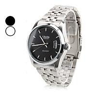 Недорогие Фирменные часы-Мужская сплава аналогового Механические наручные часы с календарем (серебро)