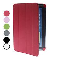 billige Mobilcovers-For Samsung Galaxy Note Med stativ / Flip / Origami Etui Heldækkende Etui Helfarve Kunstlæder Samsung Note 10.1 / Tab 2 10.1