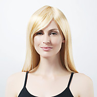 Mujer Pelucas sintéticas Corte Recto negro peluca Pelucas para Disfraz