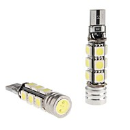 CANBUS T10 1.5W 12x5050 SMD White LED Bulb for Car Reading/Side Marker/Dashboard Light (12V, 2-Pack)