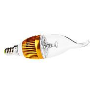halpa LED-kynttilälamput-E14 LED-kynttilälamput CA35 3 ledit Teho-LED Koristeltu Himmennettävissä Lämmin valkoinen 3000lm 3000KK AC 110-130 AC 220-240V