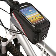 billige -ROSWHEEL Vesker til sykkelramme Mobilveske 4.2 tommers Vanntett Glidelås Innebygd Kjele Veske Støvtett Berøringsskjerm Telefon/Iphone
