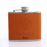 Kişiselleştirilmiş Babalar Günü hediyesi turuncu 5oz pu deri şişesi