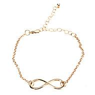 Damen Bettelarmbänder Vintage Armbänder Inspirationen Simple Style Synthetische Edelsteine Aleación Unendlichkeit Schmuck Für Alltag
