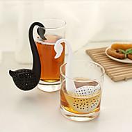 halpa Keittiö ja ruokailu-joutsen muotoinen teelusikka teetä siivilä (satunnainen väri) kaappien varastointi