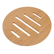 """6.5 """"Hohle Linien Muster Bamboo Coaster"""