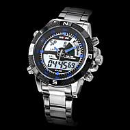WEIDE Muškarci Sportski sat Ručni satovi s mehanizmom za navijanje Kvarc Japanski kvarc LCD Kalendar Kronograf Vodootpornost Sat s dvije