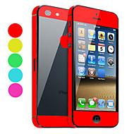 Color sólido Guardia de la piel con Negro Protector para el iPhone 5 (colores opcionales)