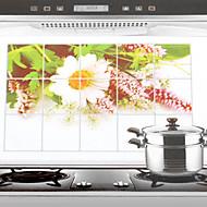 billige Rengøringsforsyninger-Høj kvalitet Køkken Olie resistente klistermærker,Aluminium