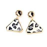 Leopard Print Round Triangle Earrings(Assorted Color)