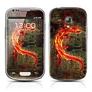 Oro Monster patrón Front y Back Protector Pegatinas para Samsung Galaxy S3 I8190 Mini