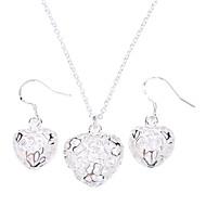Damen Schmuckset Modisch Party Besondere Anlässe Geburtstag Verlobung Sterling Silber Aleación Ohrringe Halsketten