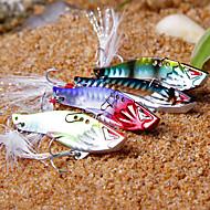 """olcso Fishing & Hunting-1 db Kemény csali Fém csali Rezgés Mamac za ribe Rezgés Kemény csali Fém csali g / Uncia, 40mm mm / 1-5/8"""" hüvelyk, Fém Tengeri halászat"""