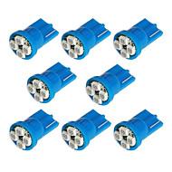 8x T10 194 168 501 4-smd 3528 LED Araç Ampul Mavi
