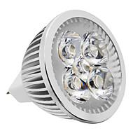 お買い得  LED スポットライト-4 W 380-420 lm LEDスポットライト LEDビーズ 温白色 / ナチュラルホワイト 12 V / #