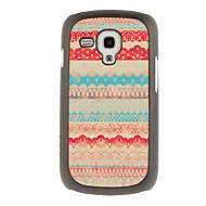 Недорогие Чехлы и кейсы для Galaxy S-Для Кейс для  Samsung Galaxy С узором Кейс для Задняя крышка Кейс для Полосы / волосы PC Samsung S3 Mini