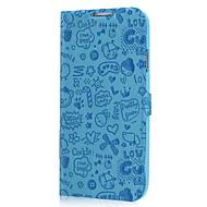 Для Кейс для  Samsung Galaxy Бумажник для карт / со стендом / Флип / С узором / Рельефный Кейс для Чехол Кейс для Один цветИскусственная