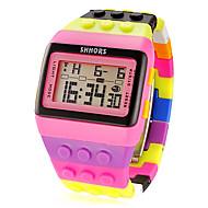 halpa Urheilukellot-Naisten Urheilukello Digitaalinen Watch Digitaalinen LCD Kalenteri Ajanotto hälytys Plastic Bändi Monivärinen Pinkki