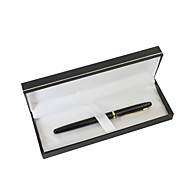 abordables Papelería Personalizada-regalo del día de padre personalizado metal clásico bolígrafo de gel de tinta negro negro