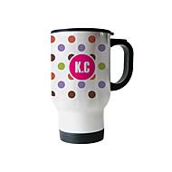 abordables Copas y Vasos Personalizados-Personalizado de acero inoxidable Polka Dot Pattern astilla tazas