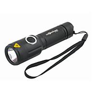お買い得  フラッシュライト/ランタン/ライト-LED懐中電灯 携帯式フラッシュライト LED Cree® XM-L T6 1 エミッタ 1000 lm 5 照明モード 充電式 キャンプ / ハイキング / ケイビング, 日常使用, サイクリング ブラック
