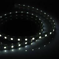 olcso LEDszalagfények-PCB Waterprooft 1M 9W 60x5050SMD 650-710LM White Light LED csík fény csatlakozóval (220-240V)