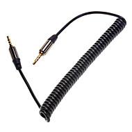 billige -Udtrækkelig Spring 3,5 mm audio Mand til Mand Connection Cable Black (1,5 Mb)