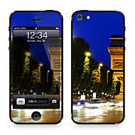 Недорогие Защитные плёнки для экрана iPhone-1 ед. для Защита от царапин Города Вид на город Узор iPhone SE/5s/5
