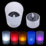 Solar Power LED Tea Light tealight gyertya lángmentes villódzás Xmas Wedding (CIS-57263)
