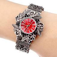 tanie Zegarki boho-Damskie Modny Zegarek na bransoletce Kwarcowy Hollow Grawerowanie Stop Pasmo Kwiat Artystyczny Kółko Szary