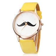 voordelige Modieuze horloges-Dames Modieus horloge Japans Kwarts PU Band Snorren Zwart Wit Blauw Rood Bruin Groen Roze Geel roze Bruin Rood Groen Blauw Roze