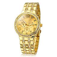 זול -בגדי ריקוד נשים שעוני אופנה קווארץ מתכת אל חלד זהב חיקוי יהלום אנלוגי נשים מדבקות עם נצנצים