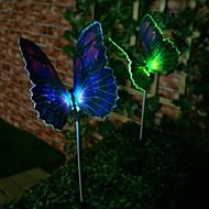お買い得  LED ソーラーライト-1個 芝生ライト 1 LEDビーズ ハイパワーLED 装飾用 マルチカラー