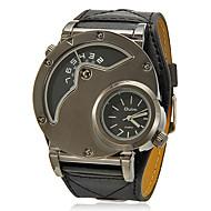 Недорогие Мужские часы-Муж. Армейские часы Кварцевый С двумя часовыми поясами PU Группа Кулоны Черный