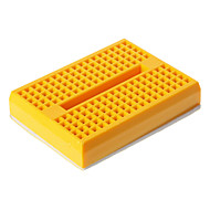 billige Arduino-tilbehør-Mini Breadboard - Gul (46 x 35 x 8,5 mm)