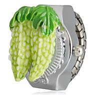 abordables Relojes de Niño-Calabaza amarga Diseño del reloj del anillo de plata de cuarzo de la aleación de la muchacha