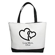 abordables Bolsas y Fundas-Personalizada del regalo del modelo Lienzo Amor Horizontal Bolsa plana Tote